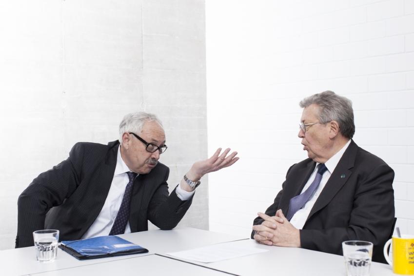 Michael Ziesemer, Präsident des ZVEI und Dr. Reinhold Festge, Präsident des VDMA.